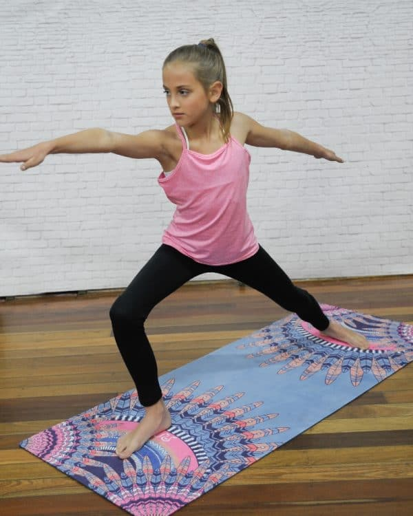 Girl on Peacock Mat