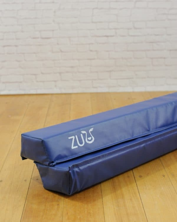 Purple balance beam designed for young gymnasts
