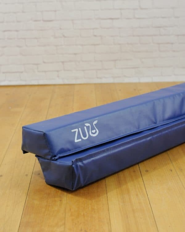 safe and sturdy blue balance beam for young gymnasts