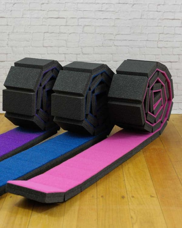 Zuu's Rollout Beam available in 3 colours with multi-grip stretching band