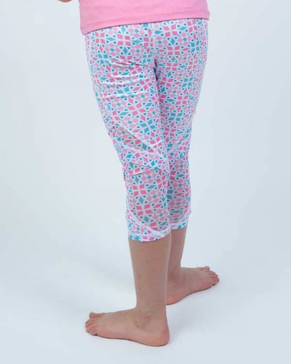 Zuu's Well Being Tights in Iris Flower colour for young athletes