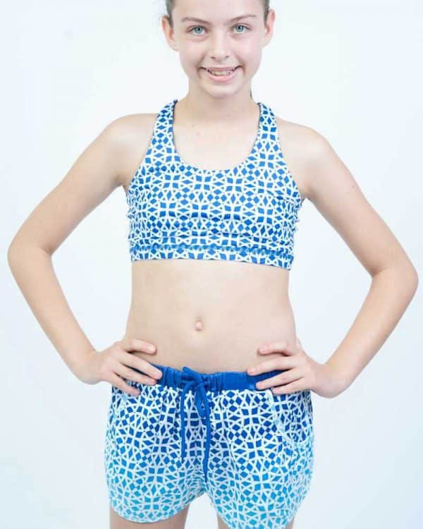 Stylish Zuu Run Shorts in Aztec Pink colour for little athletes
