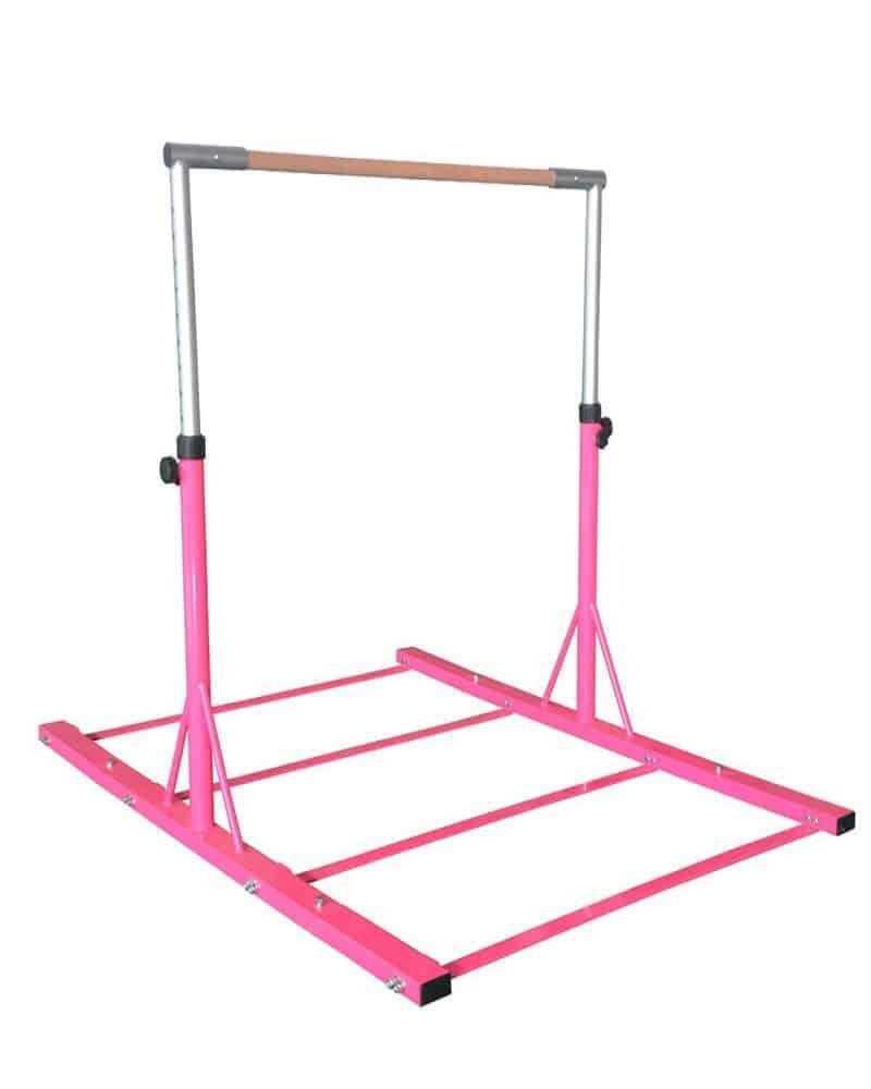 gymnastics pink metal bar