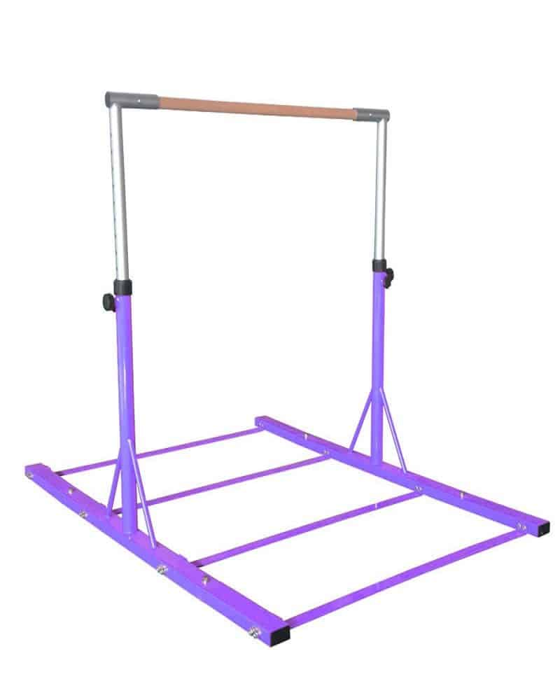 gymnastics purple metal bar
