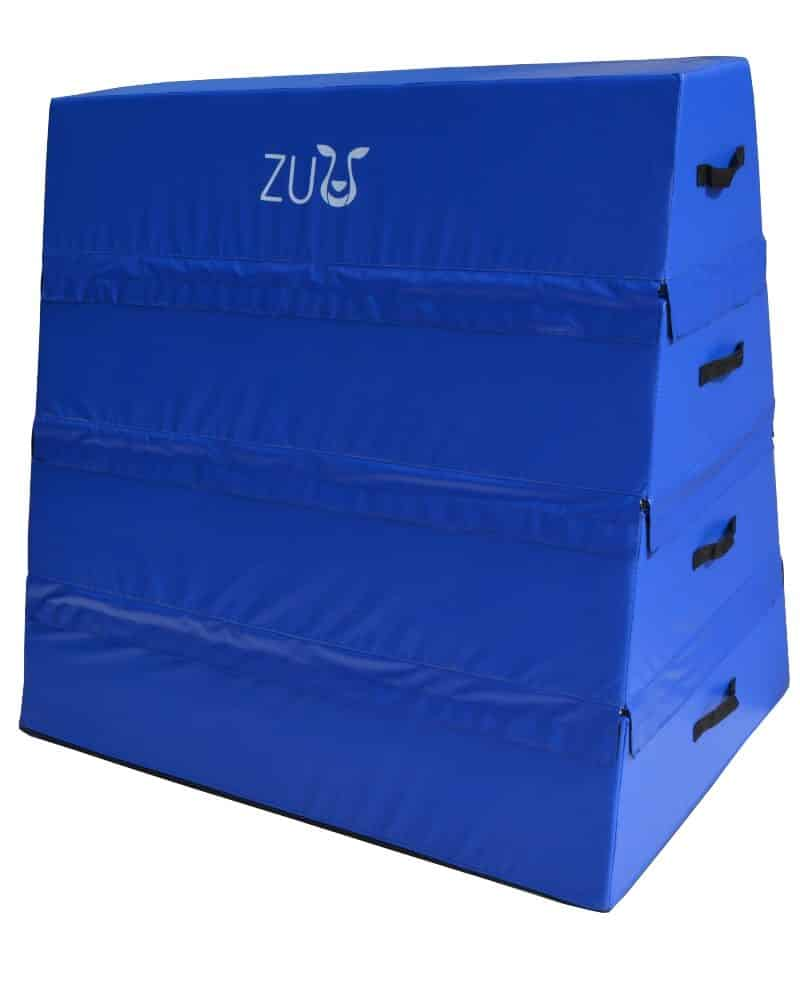 A 4 section blue vault with a Zuu label.