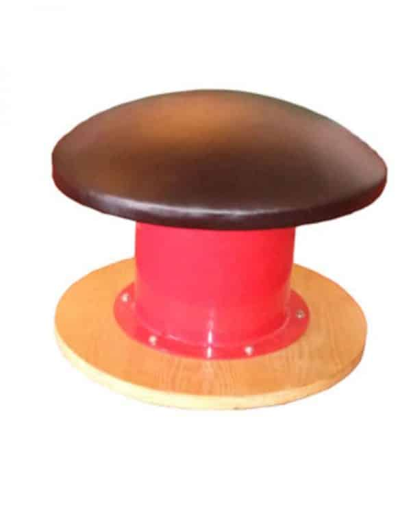 A pommel mushroom with rubber underneath.